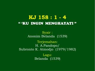 KJ  158  : 1 - 4