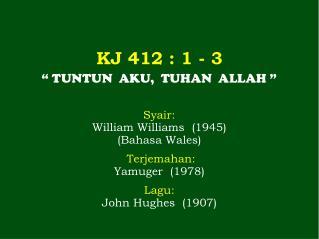 KJ 412 : 1 - 3