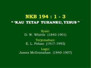 NKB 194 : 1 - 3