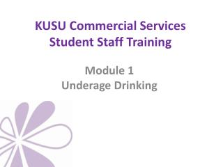KUSU Commercial Services Student Staff Training