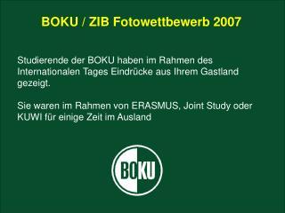 BOKU / ZIB Fotowettbewerb 2007