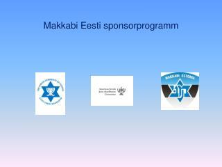 Makkabi Eesti sponsorprogramm