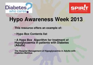 Hypo Awareness Week 2013