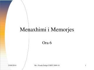 Menaxhimi  i Memorjes