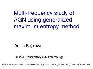 Anisa Bajkova Pulkovo Observatory (St. Petersburg)