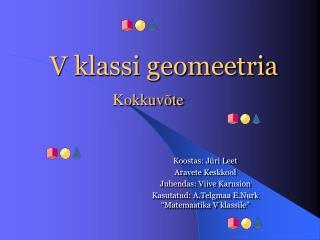V klassi geomeetria