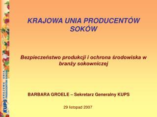 Bezpieczeństwo produkcji i ochrona środowiska w branży sokowniczej