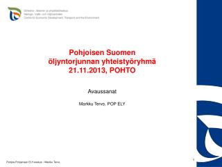 Pohjois-Pohjamaan ELY-keskus   / Markku Tervo