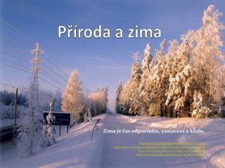 Příroda a zima