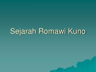 Sejarah Romawi Kuno