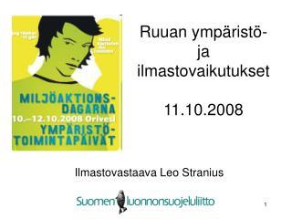 Ruuan ympäristö- ja ilmastovaikutukset  11.10.2008