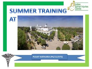 SUMMER TRAINING AT