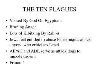 THE TEN PLAGUES