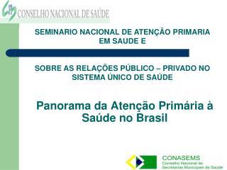 Panorama da Aten  o Prim ria   Sa de no Brasil