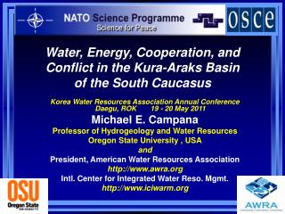 Water, Energy, Cooperation, and Conflict in the Kura-Araks Basin  of the South Caucasus