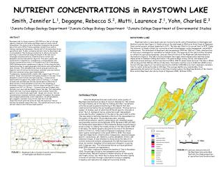 NUTRIENT CONCENTRATIONS in RAYSTOWN LAKE