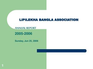 LIPILEKHA BANGLA ASSOCIATION