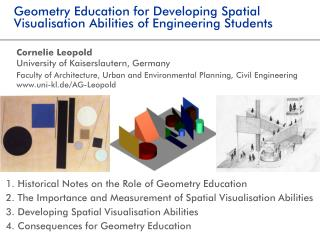 Geometry Education for Developing Spatial Visualisation Abilities of Engineering Students