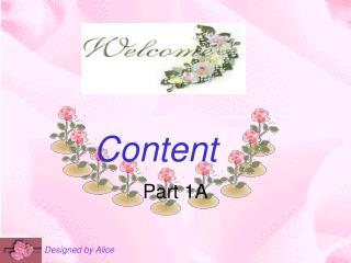 Content Part 1A