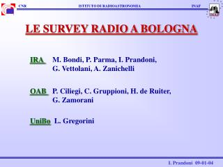 LE SURVEY RADIO A BOLOGNA