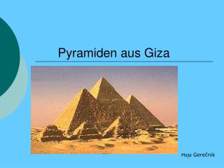 Pyramiden aus Giza