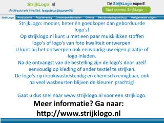 Meer informatie? Ga naar: strijklogo.nl