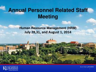 Annual Personnel Related Staff Meeting