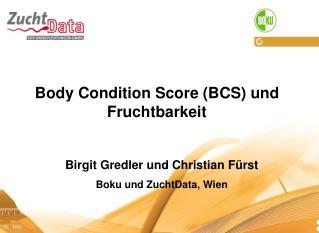 Body Condition Score (BCS) und Fruchtbarkeit