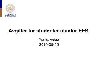 Avgifter för studenter utanför EES