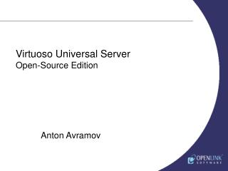Virtuoso Universal Server Open-Source Edition