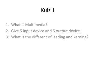 Kuiz 1