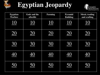 Egyptian Jeopardy