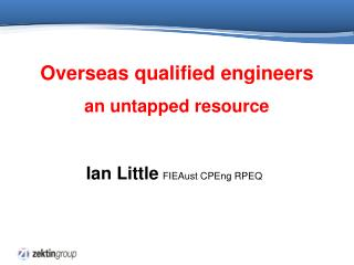 Overseas qualified engineers an untapped resource