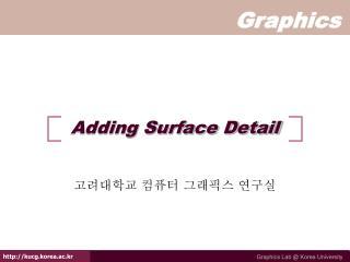 Adding Surface Detail