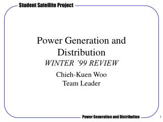 Power Generation and Distribution WINTER '99 REVIEW