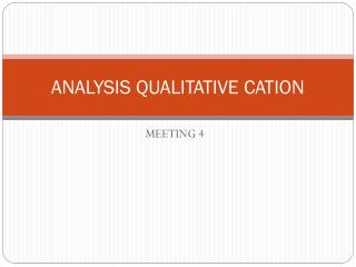 ANALYSIS QUALITATIVE CATION