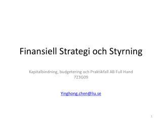 Finansiell Strategi och Styrning