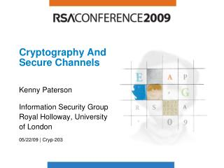 Cryptography And Secure Channels