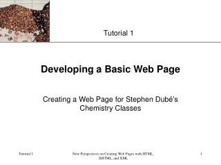 Developing a Basic Web Page
