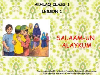 AKHLAQ CLASS 1 LE SSON 1