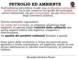 PETROLIO ED AMBIENTE