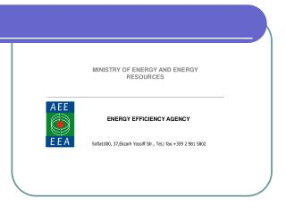 MINISTRY OF ENERGY AND ENERGY RESOURCES