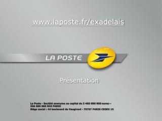 laposte.fr/exadelais