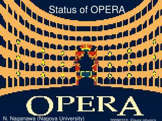 Status of OPERA