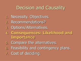 Decision and Causality