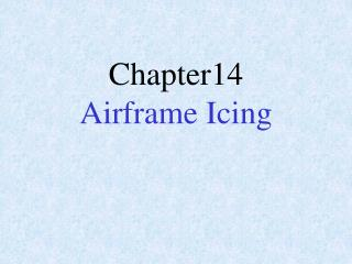Chapter14 Airframe Icing