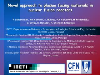 Novel approach to plasma facing materials in nuclear fusion reactors