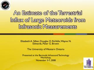 An Estimate of the Terrestrial Influx of Large Meteoroids from Infrasonic  Measurements