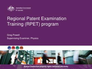 Regional Patent Examination Training (RPET) program