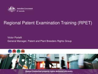 Regional Patent Examination Training (RPET)